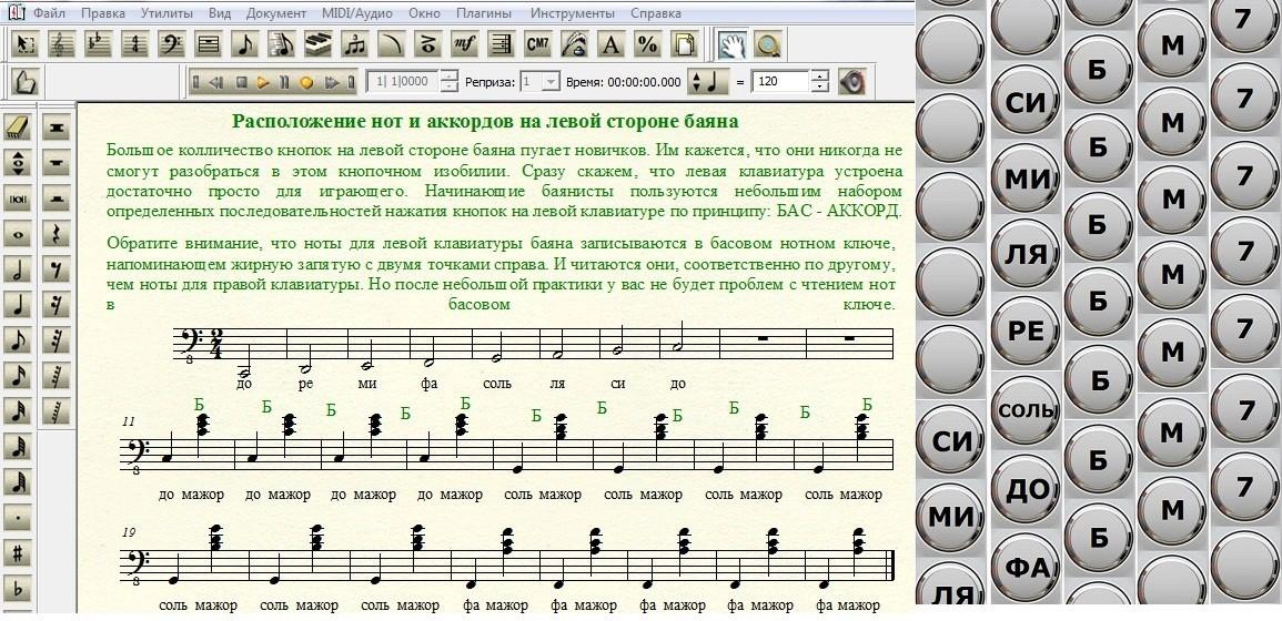Организация левой клавиатуры современного баяна. Видеоупражнения