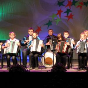 Ансамбль баянистов «Кнопочки баянные» на всесибирском фестивале